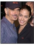 Billy Bob Thornton and Angelina Jolie at the Bandits premiere