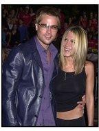 Brad Pitt and Jennifer Aniston at the Rock Star premiere