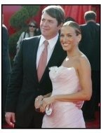 Sarah Jessica Parker and Matthew Broderick on the red carpet at the 2003 Emmy Awards