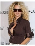 Pamela Anderson at the Elton John Oscar  Party