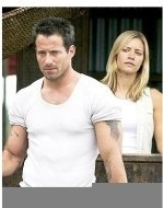 """""""Anacondas: The Hunt for the Blood Orchid"""" Movie Still:Johnny Messner and Kadee Strickland"""