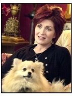 The Osbournes TV still: Sharon Osbourne with dog Minnie