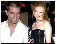 Tom Cruise and Nicole Kidman at The Others premiere (split shot)