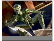Spider-Man movie still: The Green Goblin (portrayed by Willem Dafoe) in Spider-Man