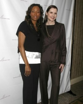 Aisha Tyler and Geena Davis