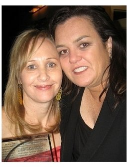 Shari Cookson and Rosie O'Donnell, winners GLAAD Award