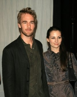 James Van Der Beek and Heather McComb