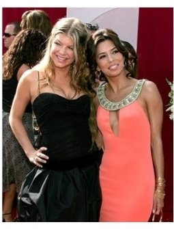Fergie and Eva Longoria on the red carpet at the 57th Annual Primetime Emmy Awards