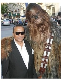 Star Wars: Episode III- Revenge of the Sith Premiere: Billy Dee Williams and Chewbacca