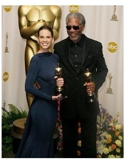 77th Annual Academy Awards BS: Hilary Swank and Morgan Freeman