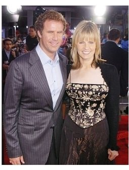 "Will Ferrell and wife at the ""Anchorman"" Premiere"