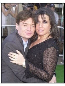 """Mike Myers and wife Robin at the """"Shrek 2"""" Premiere"""