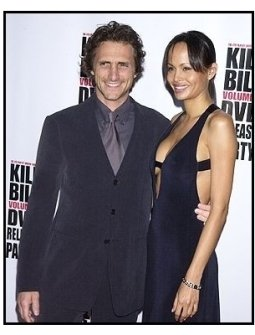 """Lawrence Bender and date at the """"Kill Bill Vol. 1"""" DVD Release Party"""