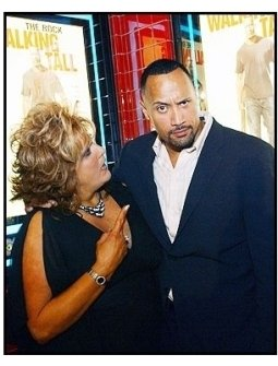 "The Rock and Dwana Pusser at the Nashville Premiere of ""Walking Tall"""