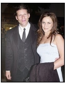 "Crispin Glover and date Amy at the ""Bad Santa"" premiere"