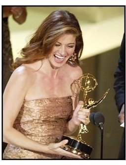"Debra Messing accepts the Outstanding Lead Actress in a Comedy Series award for ""Will & Grace"" at The 55th Annual Primetime Emmy Awards"