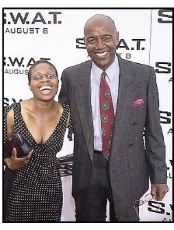 """Rod Perry and Jacqueline Jean-Baptiste at the """"S.W.A.T."""" premiere"""