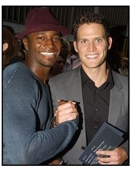 Taye Diggs and Steven Pasquale at the Minority Report premiere