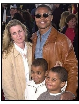 Cuba Gooding Jr. and family at the Spider-Man premiere