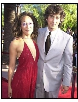 Sandra Oh and Alexander Payne at the Jurassic Park III premiere