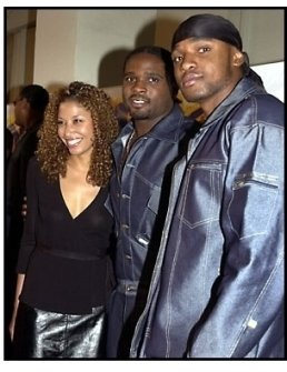Darius McCrary and date and brother at the Kingdom Come premiere