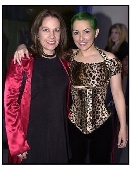 Go-Go's members Charlotte Caffey and Jane Wiedlin at the Josie and the Pussycats premiere