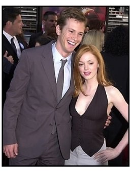 Kip Pardue and Rose McGowan at the Driven premiere
