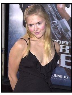 Dominique Swain at the Tomb Raider premiere