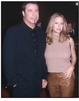 John Travolta and Kelly Preston at Lucky Numbers premiere