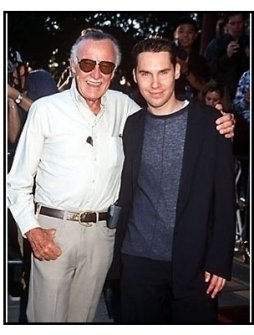 "Stan Lee and Bryan Singer at the ""X-Men"" Premiere"