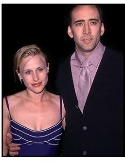 """Patricia Arquette and Nicolas Cage at the """"City of Angels"""" Premiere"""