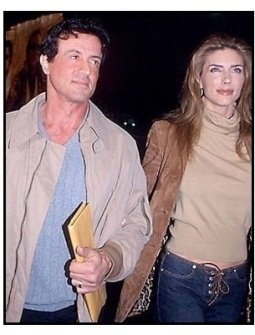 Sylvester Stallone and wife at the 3000 Miles to Graceland premiere