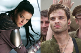 Jaimie Alexander in Thor and Sebastian Stan in Captain America The First Avenger
