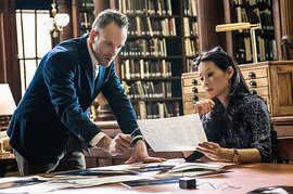 Elementary, Jonny Lee Miller and Lucy Liu