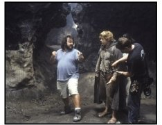 """The Lord of the Rings: The Return of the King"" Movie Still: Peter Jackson and Sean Astin"