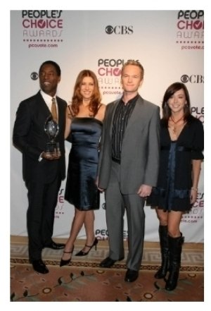 Isaiah Washington and Kate Walsh with Neil Patrick Harris and Alyson Hannigan