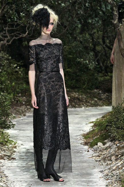Paris Fashion Week Haute Couture Spring 2013 - Chanel Runway