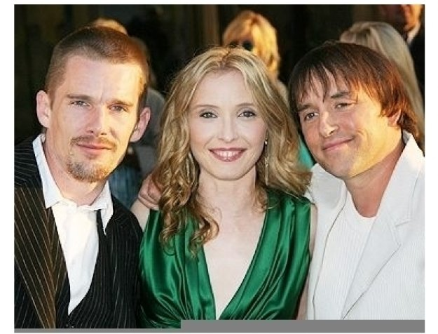 """Ethan Hawke, Julie Delpy and Director Richard Linklater at the """"Before Sunset"""" Premiere"""