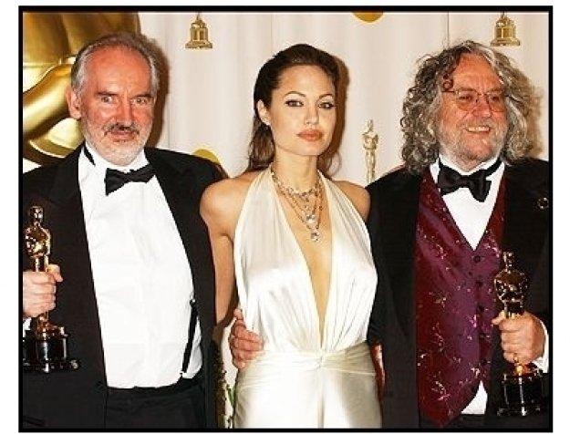 76th Annual Academy Awards -Grant Major; Dan Hennah; Alan Lee; Angelina Jolie - Backstage