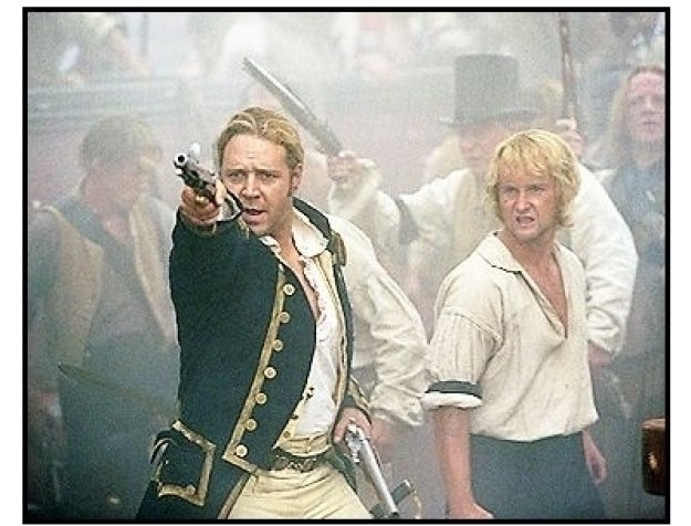 """""""Master and Commander: The Far Side of the World"""" Movie Still: Russell Crowe and Billy Boyd"""