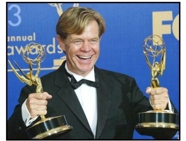 William H. Macy backstage at the 55th Annual Primetime Emmy Awards