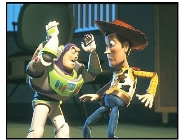 """""""Toy Story 2"""" Movie Still: Buzz Lightyear and Woody"""