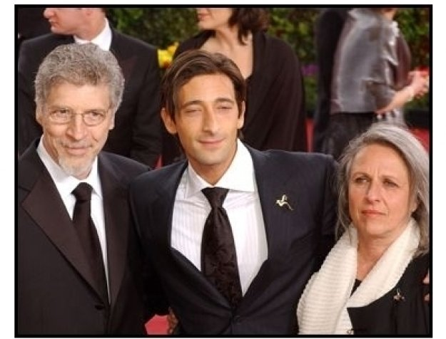 Academy Awards 2003 Arrivals: Adrien Brody with parents