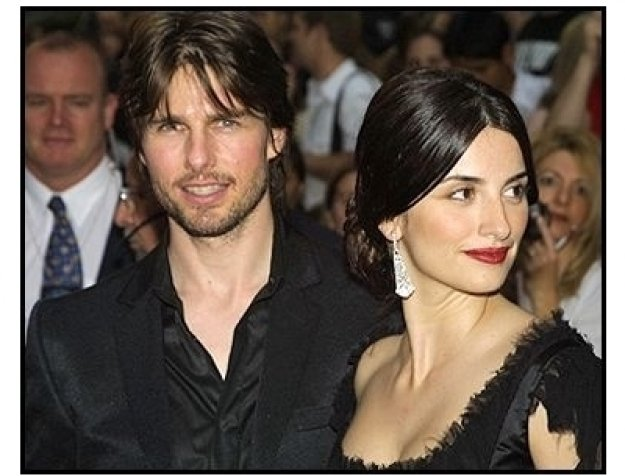 Tom Cruise and Penelope Cruz at the Minority Report premiere