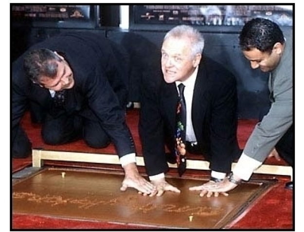 Anthony Hopkins at the Hand and Footprint Ceremony