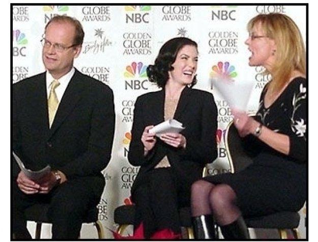 Kelsey Grammer, Lara Flynn Boyle and Christine Lahti at the 2001 Golden Globe nominations 2