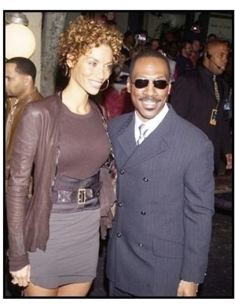 """Eddie Murphy with wife Nicole at """"The Haunted Mansion"""" Premiere"""