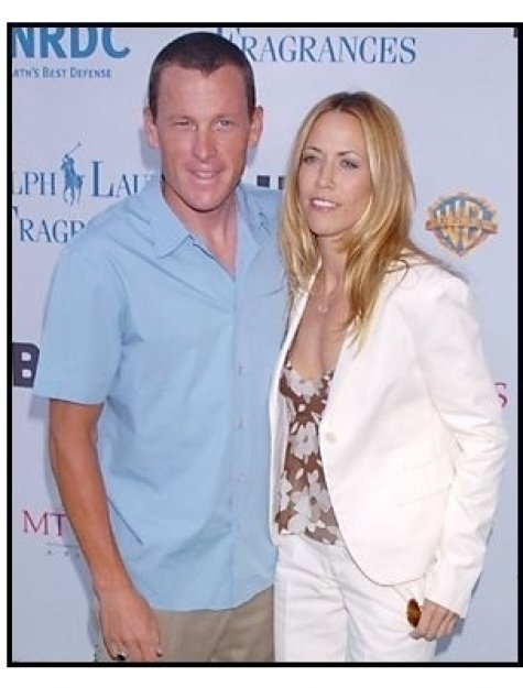 Sheryl Crowe and Lance Armstrong at the Natural Resources Defense Council  Benefit