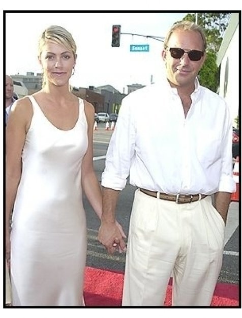 "Kevin Costner and Christine Baumgarten at the ""Open Range"" premiere"