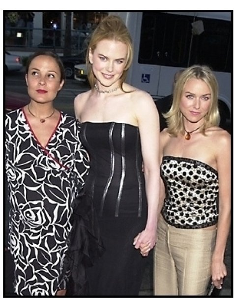 Nicole Kidman, Rebecca Rigg and Naomi Watts at The Others premiere
